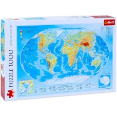 Trefl 1000 - Physical map of the world