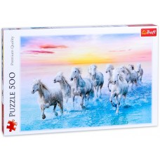 Trefl 500 - Galoping white horses