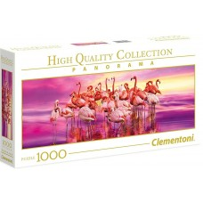 Clementoni  1000 -  Dance of the Pink Flamingo, - Panoramic Puzzle