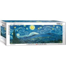 Eurographics  1000  - Star Night, Vincent van Gogh, - Panoramic puzzle