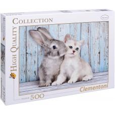 Clementoni 500 - Kitten and Bunny
