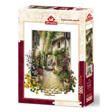 Art Puzzle  500  - In the little village of flowers, Eric Irwin