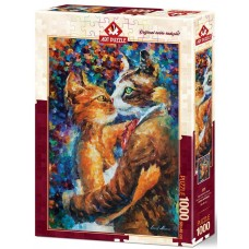 Art Puzzle  1000  - Dance of Loving Cats, Leonid Afremov