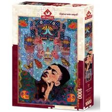 Art Puzzle 1000  - Frida, Alfredo Aregene