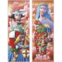 Gold Puzzle  2000  - Don Quixote and Dulsyne