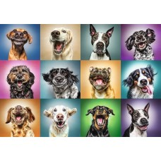Trefl 1000 - Funny portraits of dogs