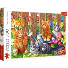 Trefl  500 - Cats in the garden