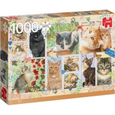 Jumbo Premium Collection 1000 - Postage stamps with cats