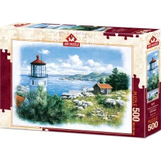 Art Puzzle 500 - Lighthouse on the shore, Peter Motz