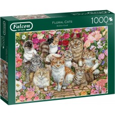 Jumbo 1000 - Cats among the flowers, Debbie Cook