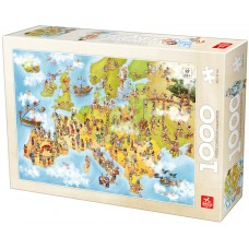 Deico Games 1000 - Map of Europe, with cartoons